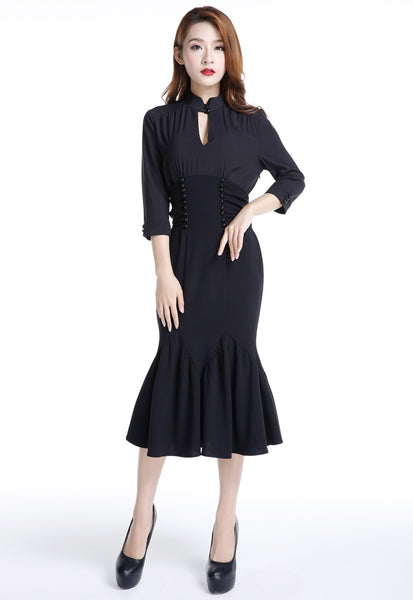 Plus Size Vintage Dresses, Plus Size Retro Dresses The Cats Meow Dress $46.95 AT vintagedancer.com