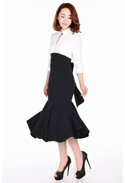 Rockabilly Dresses | Rockabilly Clothing | Viva Las Vegas The Cats Meow Dress $46.95 AT vintagedancer.com