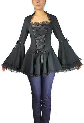 Corset Ribbon Lace Top