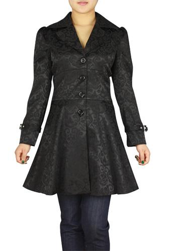 1950s Coats and Jackets History Jacquard Ruffled Jacket $62.95 AT vintagedancer.com