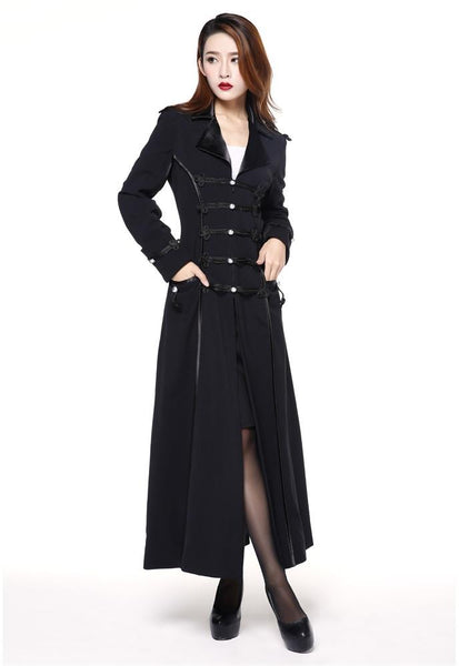 Victorian Inspired Womens Clothing Long Military coat $68.95 AT vintagedancer.com