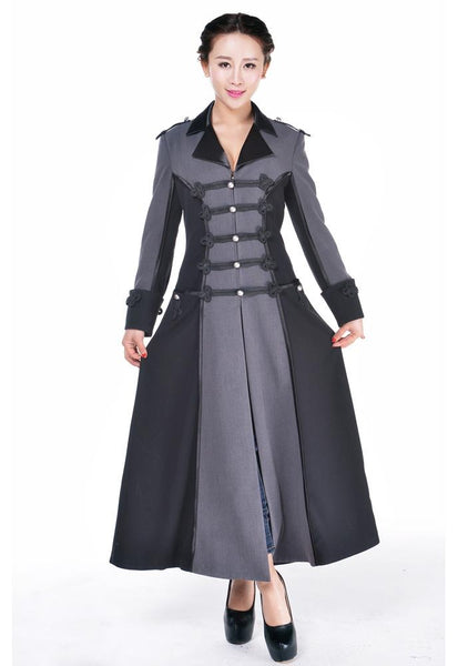 Steampunk Plus Size Clothing Long Military coat $68.95 AT vintagedancer.com