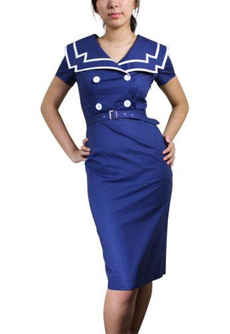 Vintage Sailor Pencil Dress