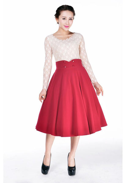 1950s Rockabilly Dresses Rockabilly Swing Skirt $33.95 AT vintagedancer.com