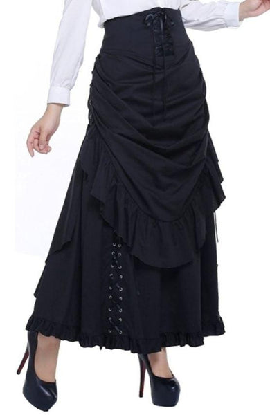 Steampunk Dresses | Women & Girl Costumes Victorian Steampunk Skirt $83.95 AT vintagedancer.com