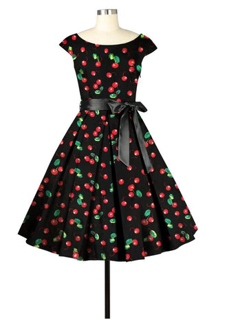 Pleats To Meet You Dress In Cherries