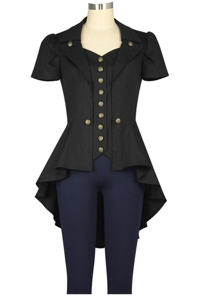 Steampunk Dresses | Women & Girl Costumes Buttons Galore Blouse $40.95 AT vintagedancer.com