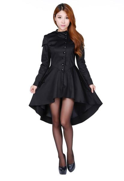 Steampunk Jacket | Steampunk Coat, Overcoat, Cape Hooded Steampunk Riders Jacket $64.95 AT vintagedancer.com