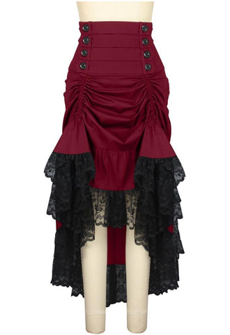 Lace Up Steampunk Skirt