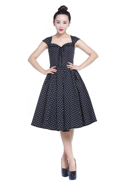 Polka Dot 50s With An Edge Dress