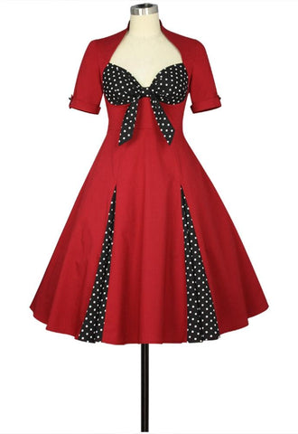 Retro Polka Dot Dress