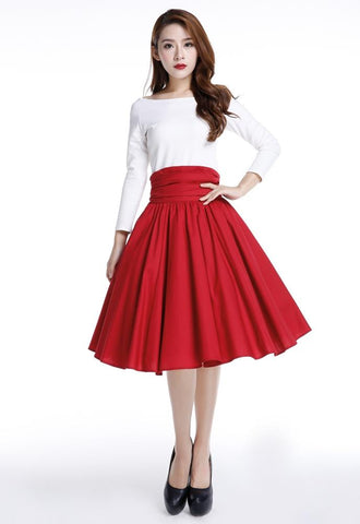 Retro Ruched 50s Skirt