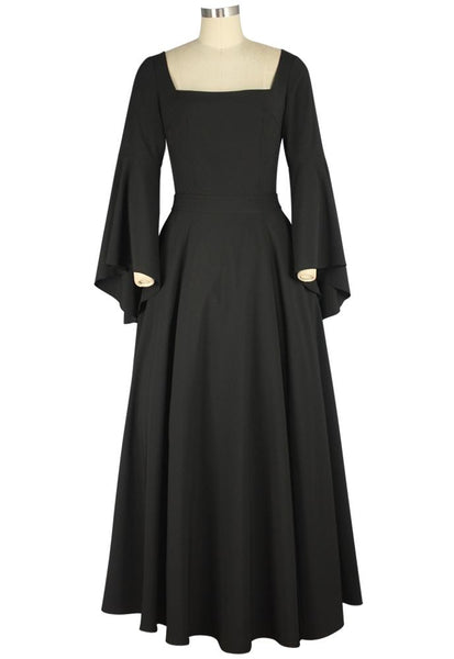 Victorian Plus Size Dresses | Edwardian Clothing, Costumes Steampunk Bell Sleeves Long Dress $55.95 AT vintagedancer.com