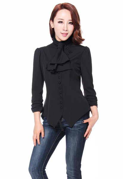 Steampunk Plus Size Clothing Steampunk Blouse $32.95 AT vintagedancer.com
