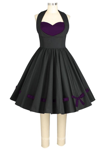 Threaded Retro Bow and Heart Dress