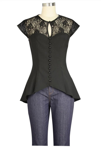 Steampunk Tops | Blouses, Shirts Traces of Lace Top $24.95 AT vintagedancer.com