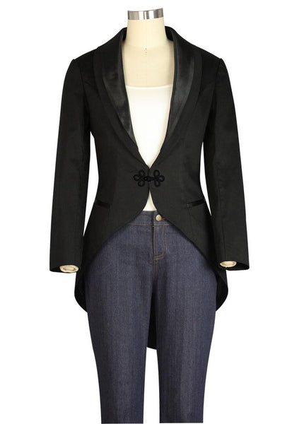 1930s Style Coats, Jackets | Art Deco Outerwear Tuxedo Jacket $50.95 AT vintagedancer.com