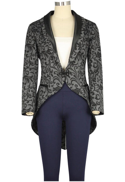 Steampunk Jacket | Steampunk Coat, Overcoat, Cape Tuxedo Print Jacket $60.95 AT vintagedancer.com
