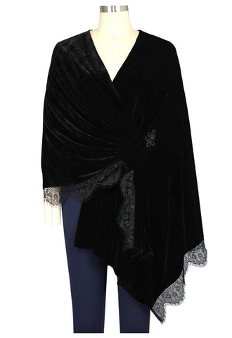Velvet and Lace Stole