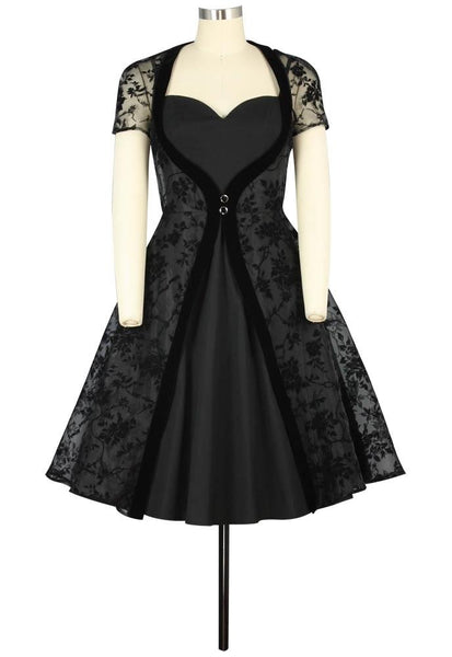 Vintage 50s Dresses: 8 Classic Retro Styles Velvet Sweetheart Dress $54.95 AT vintagedancer.com