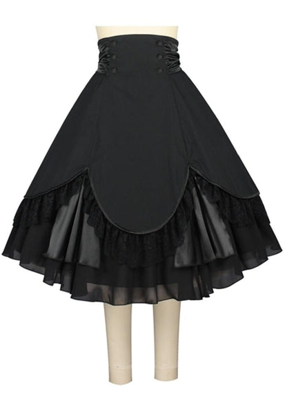 Rockabilly Dresses | Rockabilly Clothing | Viva Las Vegas Victorian Flair Skirt $48.95 AT vintagedancer.com