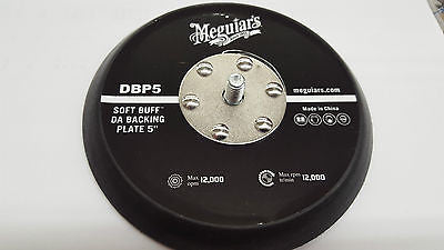 Meguiar's Soft Buff DBP5 DA Polisher 5 inch Backing Plate