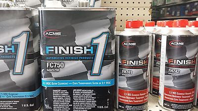 1 GALLON KIT Finish 1 Satin Clear Coat  Finish1 FC750 and FH741