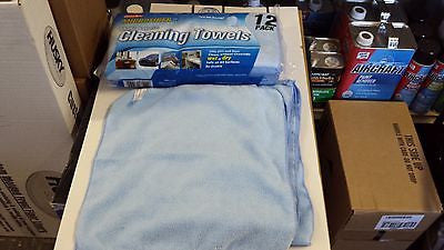 "12 pk Professional Microfiber Towel Auto Detailing Car Cleaning Rag 14x14"" Blue"