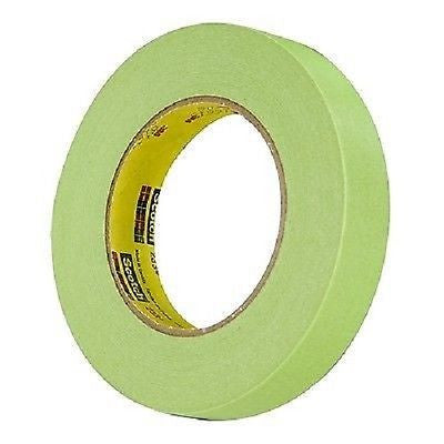 "3/4"" - 1 ROLL 3M 26334 Green Masking Tape 233+ 1 Roll"