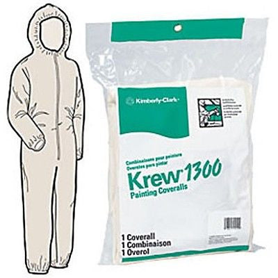 Kimberly Clark 72214 Krew 1300 Hooded Coveralls Extra-Large Hooded Automotive