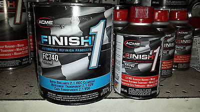 1 QT KIT Finish 1 Clear Coat  Finish1 FC740 and FH741 fast hardener