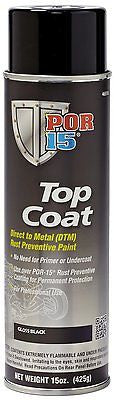 BCS POR-15 BLACKCOAT Gloss Black Paint-Spray Can top coat