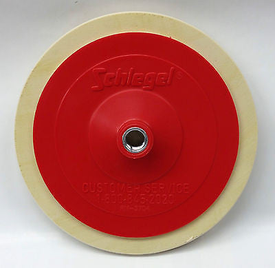 "Schlegel Backing Plate Polishing Pad 7.25"" Diameter Hook and Loop Attachment"