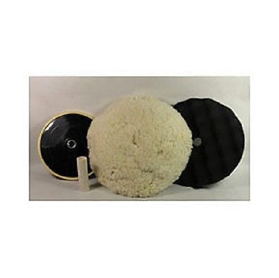 Buffing Pad Kit 8'' Wool pad - 8'' Foam pad - Backing Plate
