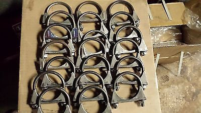 "2 1/2"" EXHAUST U CLAMPS HEAVY DUTY  LOT OF  20 Made in USA"