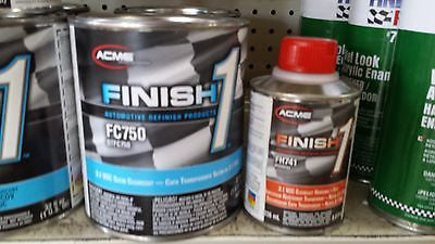 1 Quart KIT Finish 1 Satin Clear Coat  Finish1 FC750 and FH741 1/2 pt