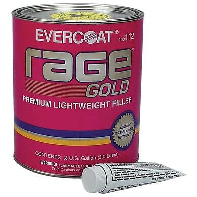 Fiberglass Evercoat Auto Body Filler Rage Gold 3.0 Liters Ea  FIB 112