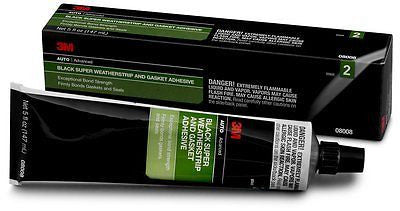 3M™ Black Super Weatherstrip and Gasket Adhesive 08008, 5 fl oz, 1 piece