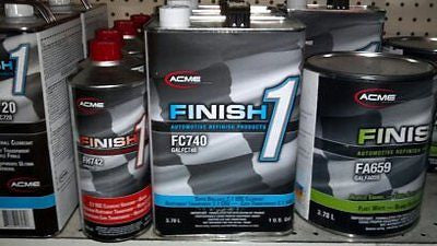 4 GALLON KIT Finish 1 Clear Coat  Finish1 FC740 and FH743
