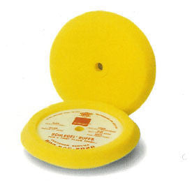 "Schlegel Buffing Pad Foam Medium Cutting Yellow 9"" Diameter 1.50"" Thick"