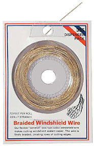 Windshield Removal Piano Wire Saw-Type Flexible { serrated }