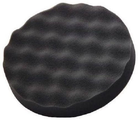 "Black Foam Polishing Pad, 8"" Dia, hook it back fits up to 7'' pad"