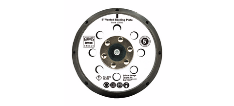 "Griot's Garage 5"" Vented Orbital Backing Plate"