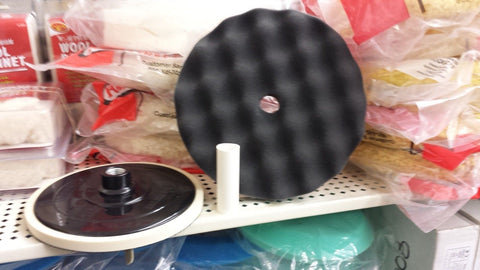 "Black Foam Polishing Pad, 8"" Dia, Velcro back (fits 7"" pad and Backing Plate)"