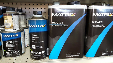 2 gal kit  Matrix Systems MSV21 2.1 V.O.C. Clear Coat Kit W /  2 Standard  hardener and 1 slow