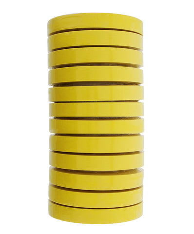 "3M 06652 MASKING TAPE 1.5"" YELLOW (12 Rolls) 6652"
