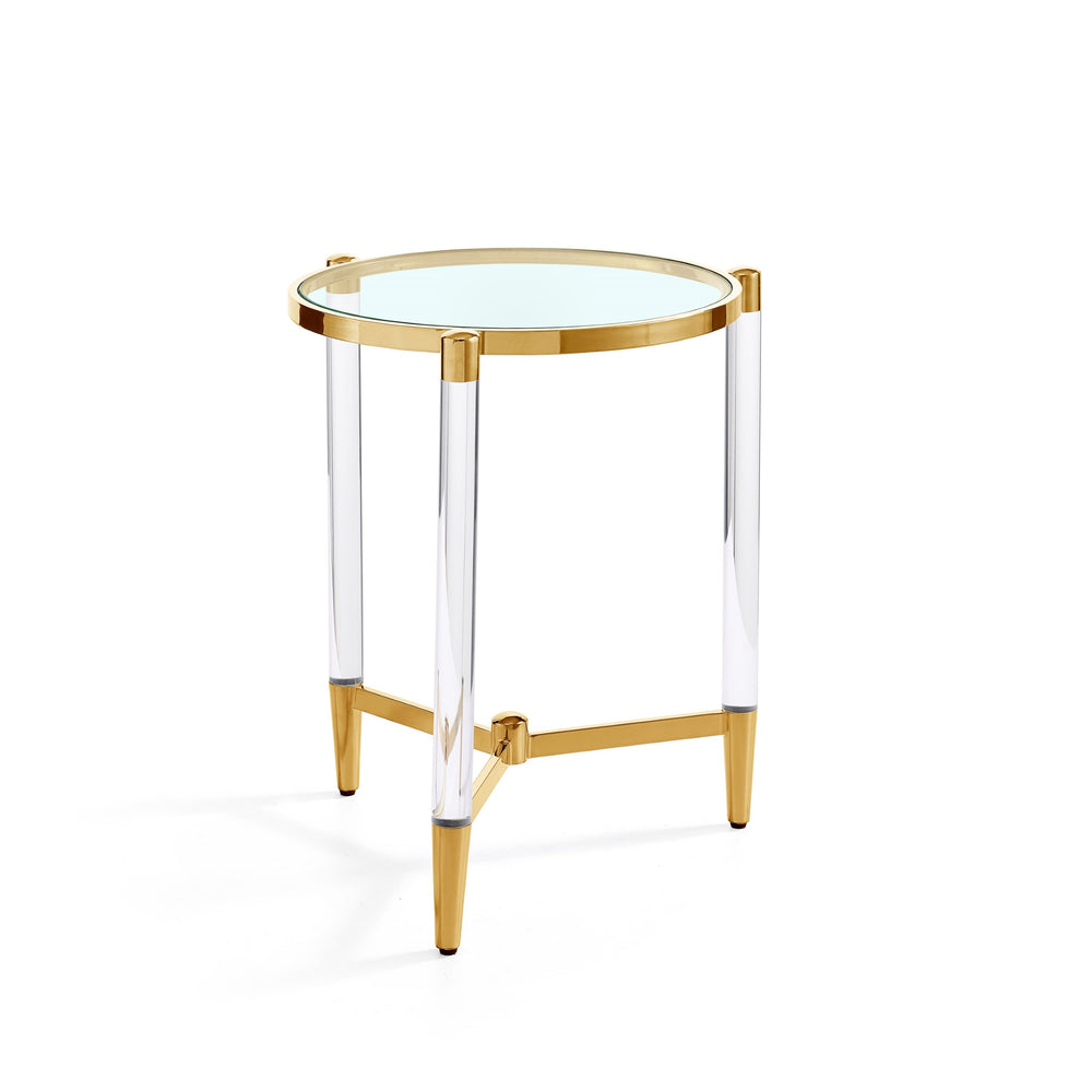 Floating Gold Side Table
