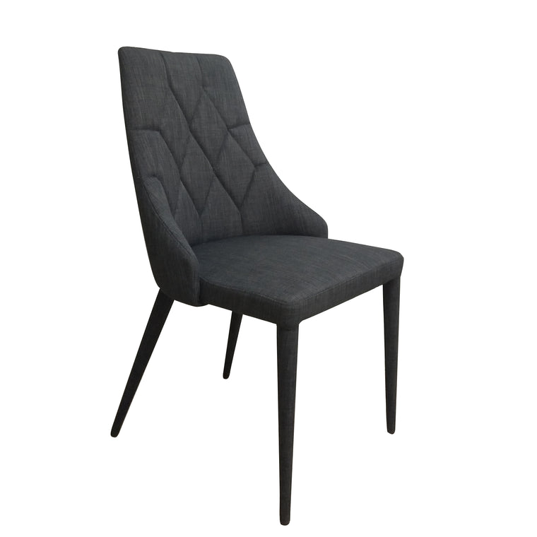 BERGAMO DINING CHAIR SANTORINI BLACK