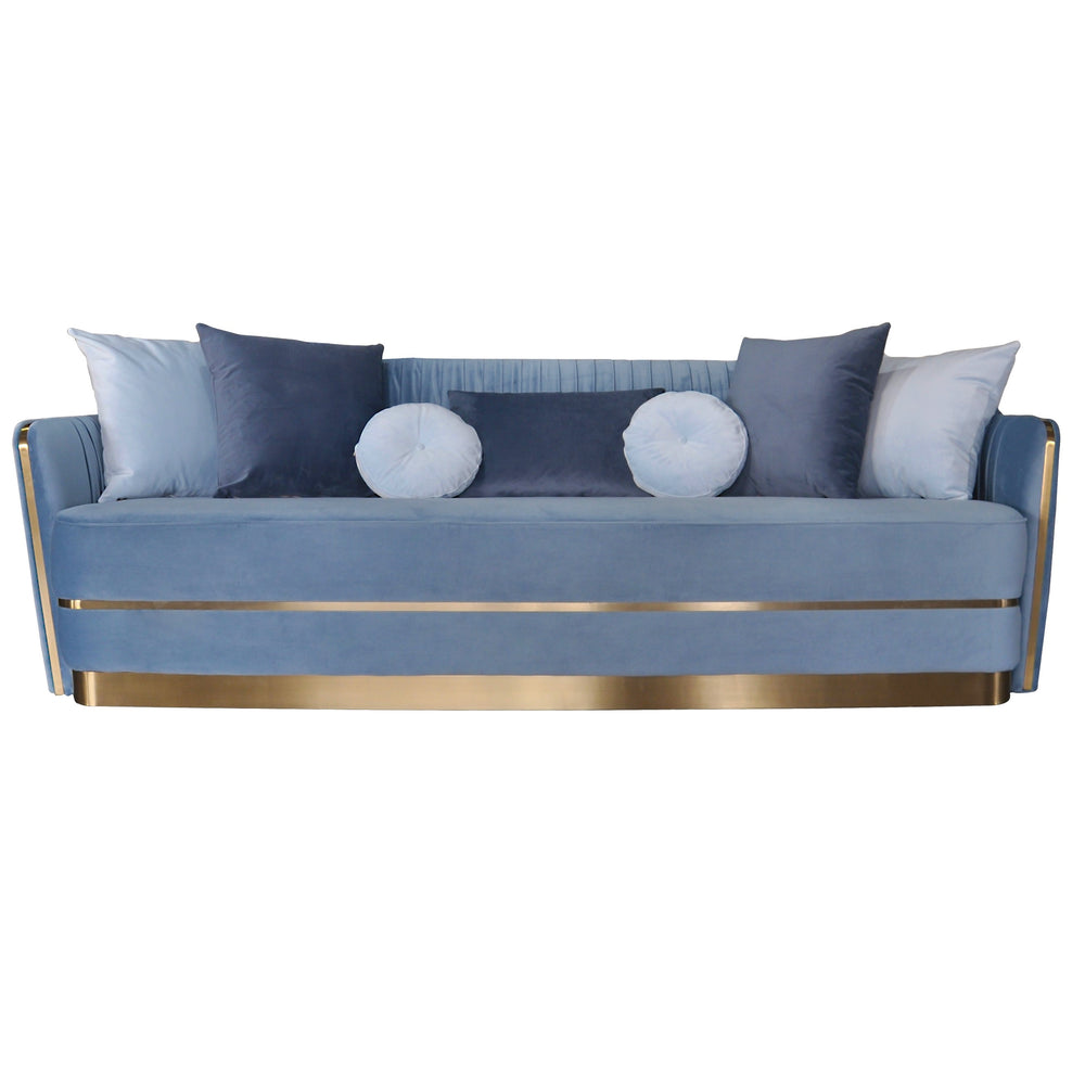 Stallone 3 Seater Sofa Sky Blue