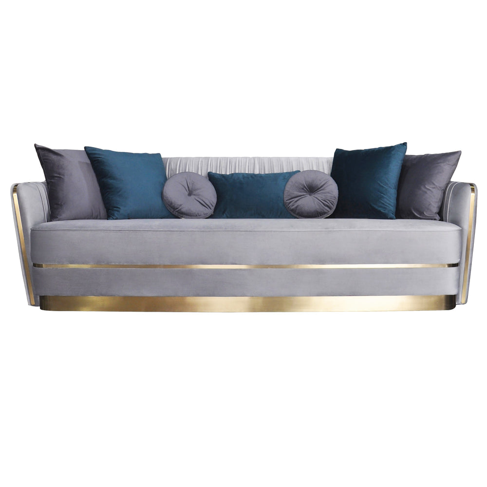 Stallone 3 Seater Sofa Grey